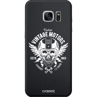 """Caseez Back Case """"Biker"""" für Samsung Galaxy S7, schwarz/ weiß"""