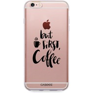 "Caseez Back Case ""First Coffee"" für Apple iPhone 6/ 6S, transparent"
