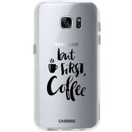 "Caseez Back Case ""First Coffee"" für Samsung Galaxy S7, transparent"