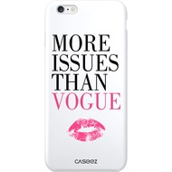 "Caseez Back Case ""More Issues Than..."" für Apple iPhone 6/ 6S, weiß"