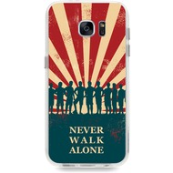 "Caseez Back Case ""Never Walk alone"" für Samsung Galaxy S7"