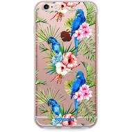 "Caseez Back Case ""Parrots"" für Apple iPhone 6/ 6S, transparent"