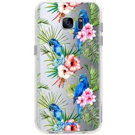 "Caseez Back Case ""Parrots"" für Samsung Galaxy S7, transparent"