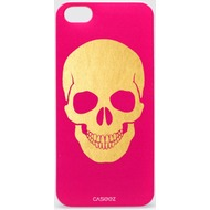 "Caseez Back Case ""Skull Gold"" für Apple iPhone 5/ 5s/ SE - Pink"