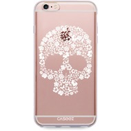 "Caseez Back Case ""Skull White"" für Apple iPhone 6/ 6S, transparent"