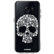 "Caseez Back Case ""Skull White"" für Samsung Galaxy S7, transparent"