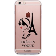 "Caseez Back Case ""Tres En Vogue"" für Apple iPhone 6/ 6S, transparent"