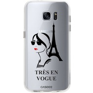 "Caseez Back Case ""Tres En Vogue"" für Samsung Galaxy S7, transparent"