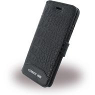 Cerruti 1881 Crocodile - Leder BookCover - Apple iPhone 7 - Schwarz
