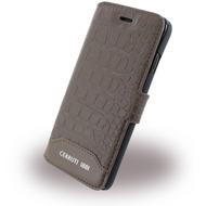 Cerruti 1881 Crocodile Print - Kunstleder BookCover - Apple iPhone 7 - Braun