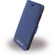 Cerruti 1881 Crocodile Print - Kunstleder BookCover - Apple iPhone 7 - Navy Blau