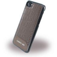 Cerruti 1881 Crocodile Print - Kunstleder HardCase - Apple iPhone 7 - Braun