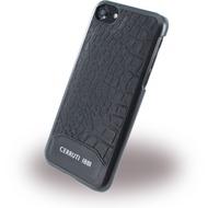 Cerruti 1881 Crocodile Print - Kunstleder HardCase - Apple iPhone 7 - Schwarz