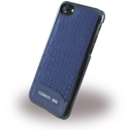 Cerruti 1881 Crocodile Print - Kunstleder Hardcase - Apple iPhone 7 /  8 - Navy Blau