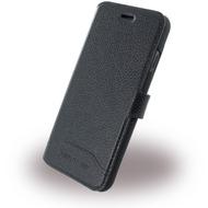 Cerruti 1881 Trim - Leder Book Cover - Apple iPhone 7 - Schwarz