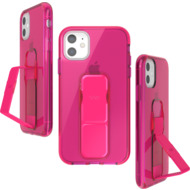 CLCKR CLEAR NEON GRIPCASE SEASONAL FW19 for iPhone 11 neon pink