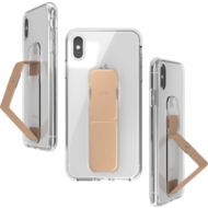 CLCKR Gripcase FOUNDATION for iPhone XS Max clear/ rose gold colored
