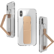 CLCKR Gripcase FOUNDATION for iPhone X/ Xs clear/ rose gold colored