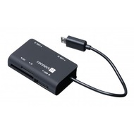connect IT Card Reader & USB Hub connect IT Micro USB Schwarz Smartphone/ Tablet OTG