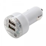 connect IT KFZ-Ladegerät connect IT USB Adapter Dual 2.1A/ 1A Weiss