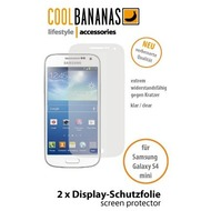 Cool Bananas Schutzfolie HQ Kristallklar 2x Samsung Galaxy S4 (Mini)