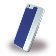 Corvette Silver Brushed Aluminium - Hard Cover für Apple iPhone 6 Plus/ 6S Plus, blau