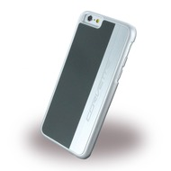 Corvette Silver Brushed Aluminium - Hard Cover für Apple iPhone 6 Plus/ 6S Plus, grau