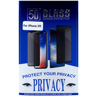 Cyoo Privacy 5D Glas Displayschutzfolie für Apple iPhone 11 /  XR, Schwarz