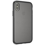 Cyoo Dot Back Silikon Cover /  Handyhülle für Apple iPhone XR, Transparent /  Schwarz
