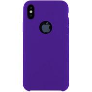 Cyoo Premium Liquid Silicon Hard Cover für iPhone X, Lila
