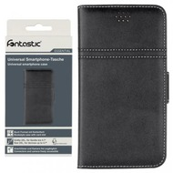 D-Parts Fontastic Essential Universal Smartphone Case Book 2XL, schwarz