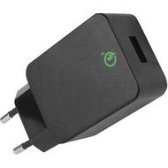 D-Parts Fontastic Netzteil USB Compact Qualcom 3.0 3A, Schwarz