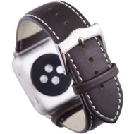 dbramante1928 Copenhagen Apple watch Leder-Armband 38mm - hunter/ silver