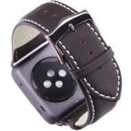 dbramante1928 Copenhagen Apple watch Leder-Armband 38mm - spacegrey/ hunter