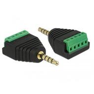 DeLock Adapter Klinkenstecker 3,5 mm zu Terminalblock 5 Pin