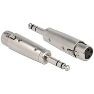 DeLock Adapter XLR 3 Pin XLR Buchse 6,35mm Klinke Stecker