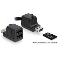 DeLock Card Reader microSDHC/ 2-Port USB 2.0 HUB