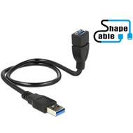 DeLock Kabel USB 3.0 A Stecker > USB 3.0 A Buchse ShapeCable - 0.50m
