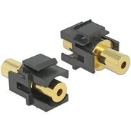 DeLock Keystone Klinke 3,5mm 4 Pin Buchse > Buchse vergoldet