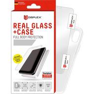 Displex Displex, Real Glass 0,33mm + Hülle, Apple iPhone 11 Pro /  XS /  X Displayschutzglasfolie