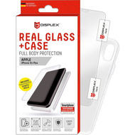 Displex Displex, Real Glass 0,33mm + Hülle, Apple iPhone 11 /  XR, Displayschutzglasfolie