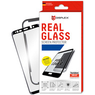 Displex Displex, Real Glass 3D 0,33mm + Rahmen, Apple iPhone 6, 7, 8, Displayschutzglasfolie, schwarz