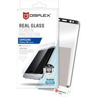 Displex Vollflächiges Displayschutzglas für Galaxy S8, Schwarz