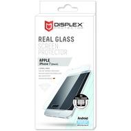 Displex Vollflächiges Displayschutzglas für iPhone 7, Schwarz