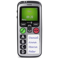 Doro Secure 580IUP, silber-schwarz mit Vodafone Red L +10 Vertrag