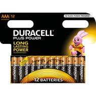 Duracell Batterie Alkaline - Micro - AAA - LR03 - 1.5V Plus Power - (12-Pack)
