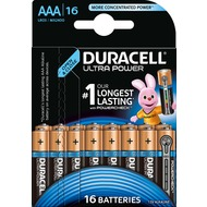 Duracell Batterie Alkaline - Micro - AAA - LR03 - 1.5V Ultra Power - Powercheck - (16-Pack)