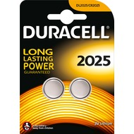 Duracell Batterie Lithium - Knopfzelle - CR2025 - 3V Electronics - (2-Pack)
