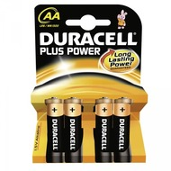 Duracell Battery Alkaline AA 4er Plus Power
