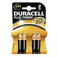 Duracell Battery Alkaline AAA 4er Plus Power